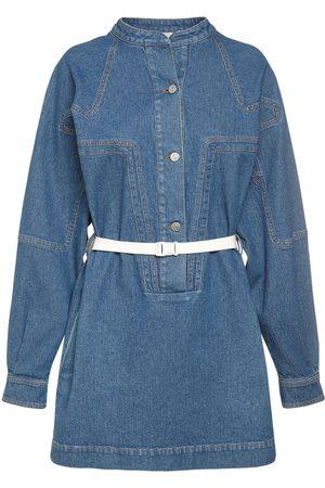 Stella McCartney Naiset Kesämekot - Cotton Denim Vintage Wash Mini Dress