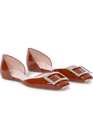 Roger Vivier Trompette patent leather ballet flats