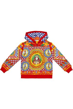 Dolce & Gabbana Printed zipped cotton hoodie