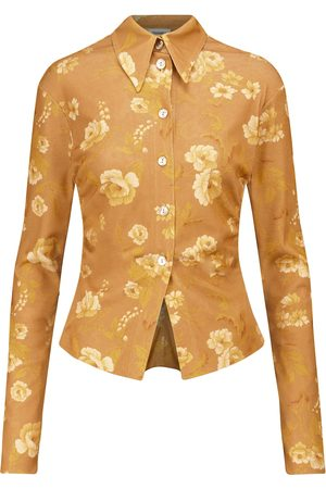 Nanushka Felda floral jersey shirt