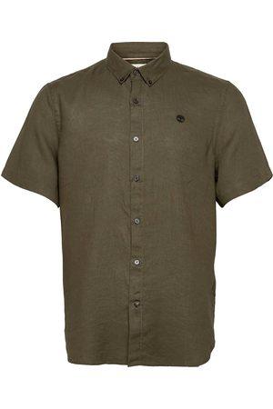 Timberland Miehet Lyhythihaiset - Ss Linen Shirt Lyhythihainen Paita Ruskea