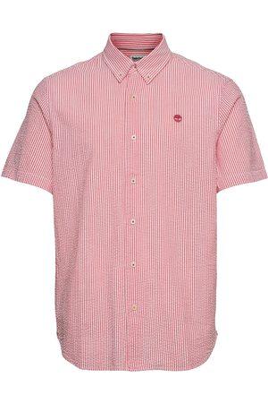Timberland Miehet Lyhythihaiset - Ss Sersucker Shirt Lyhythihainen Paita Punainen