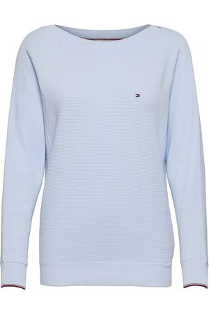 Tommy Hilfiger Org Co Texture Boat-Nk Sweater Neulepaita