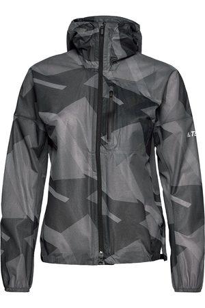 adidas Terrex Agravic Graphic 2.5 Layer Rain Jacket W Outerwear Sport Jackets Musta