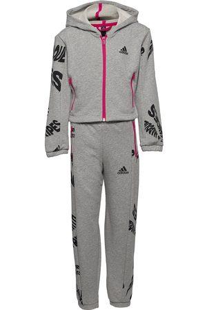 adidas Hooded Track Suit W Verryttelypuku Harmaa