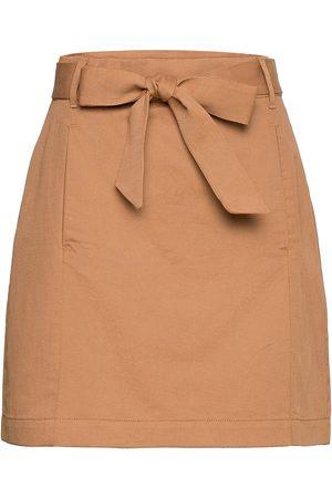 Banana Republic Utility Mini Skirt Lyhyt Hame Ruskea