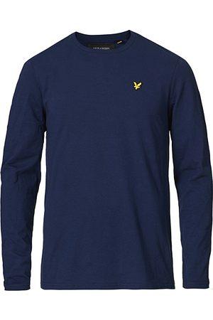 Lyle & Scott Miehet T-paidat - Long Sleeve Crew Neck Tee Navy