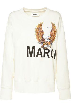 MM6 MAISON MARGIELA Eagle Printed Cotton Jersey Sweatshirt