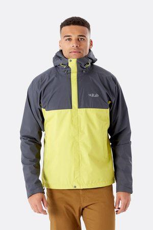 Rab Miehet Päällystakit - Downpour Eco Jacket Men Graphite / Zest L