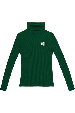 Gucci GG ribbed-knit wool turtleneck sweater
