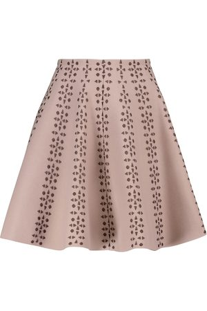 Alaïa Naiset Minihameet - Flared jacquard miniskirt