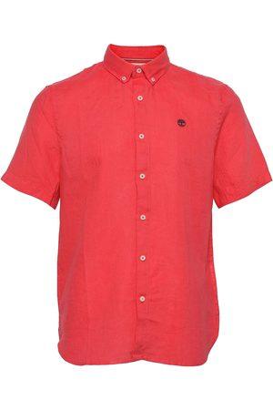 Timberland Ss Linen Shirt Lyhythihainen Paita Vaaleanpunainen