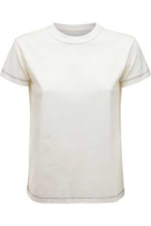 MM6 MAISON MARGIELA Embroidered Logo Cotton Jersey T-shirt