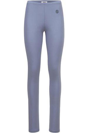 MM6 MAISON MARGIELA Naiset Leggingsit - Shiny Jersey Leggings