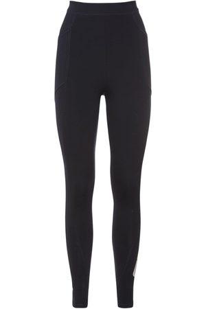 Stella McCartney Naiset Leggingsit - Logo Print Jersey Leggings