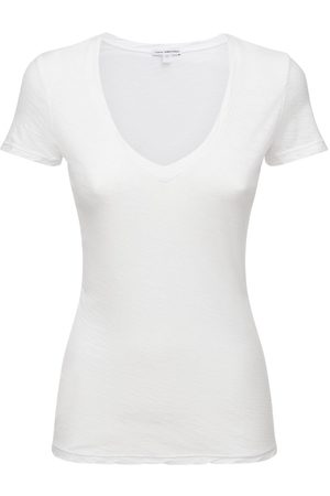 James Perse Naiset T-paidat - V Neck Casual Cotton Jersey T-shirt
