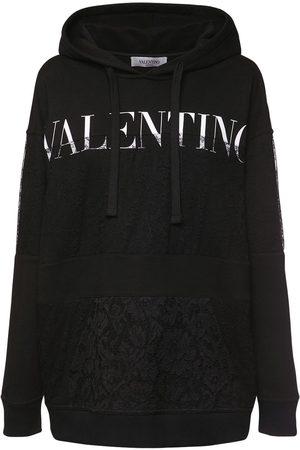VALENTINO Naiset Collegepaidat - Logo Cotton Jersey Hoodie