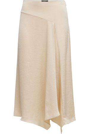 THEORY Naiset Midihameet - Asymmetric Satin Midi Skirt