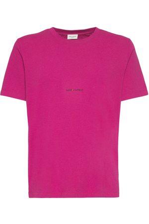 Saint Laurent Miehet T-paidat - Logo Cotton T-shirt
