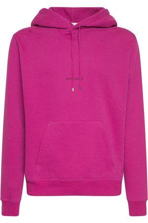 Saint Laurent Miehet Collegepaidat - Logo Cotton Sweatshirt Hoodie