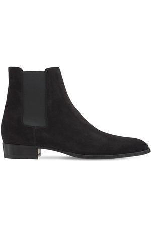 Saint Laurent Mid Heel Leather Boots