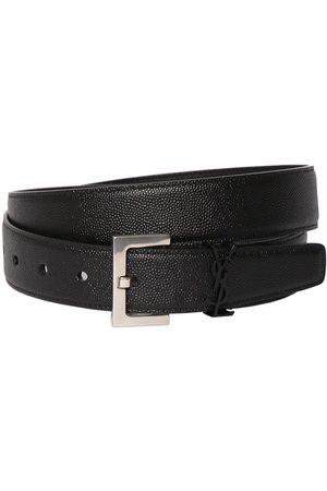 Saint Laurent Miehet Vyöt - 3cm Ysl Leather Belt