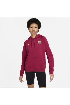 Nike F.C. Barcelona Women's Fleece Pullover Hoodie - Red