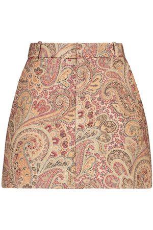 Etro Paisley wool and silk-blend miniskirt