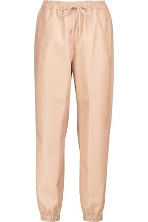 Stella McCartney Faux leather sweatpants