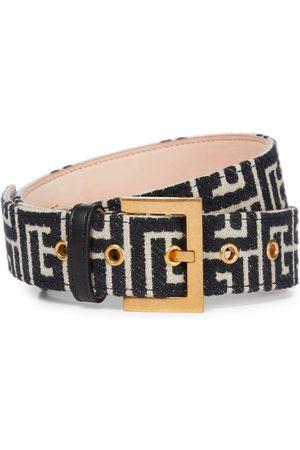 Balmain Naiset Vyöt - B-Classic monogram jacquard belt