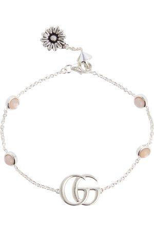 Gucci Naiset Rannekorut - Double G mother-of-pearl and sterling silver bracelet