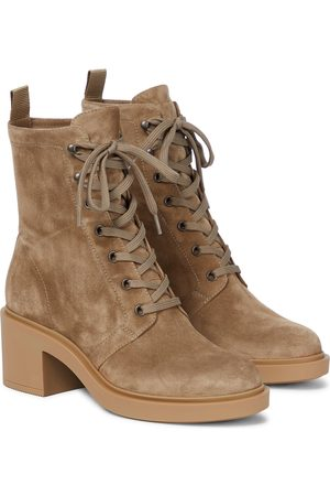 Gianvito Rossi Foster suede ankle boots
