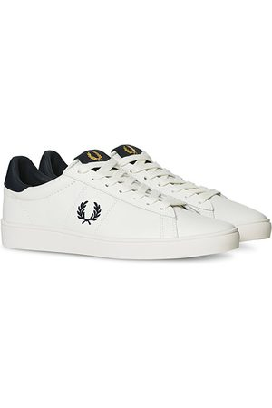 Fred Perry Miehet Tennarit - Spencer Leather Sneakers Porcelain/Navy