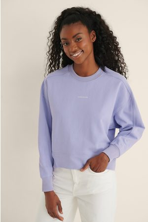 Calvin Klein Organic Micro Branding Sweatshirt - Purple