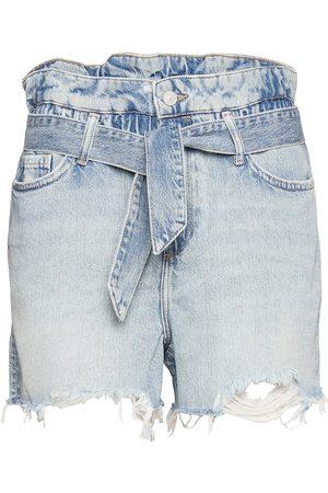 AllSaints Hannah Paperbag Shor Shorts Denim Shorts