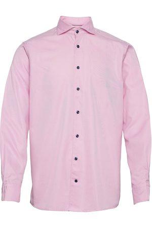 Eton Miehet Bisnes - Men'S Shirt: Soft Business Textured Twill Paita Bisnes Vaaleanpunainen