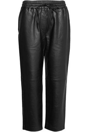 DAY Birger et Mikkelsen Naiset Nahkahousut - Day Skin Leather Leggings/Housut Ruskea