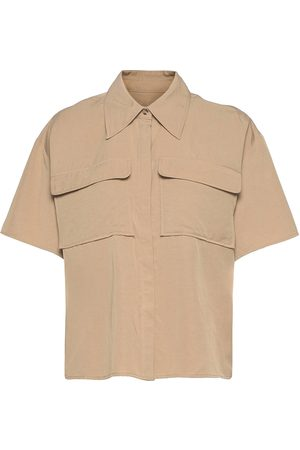 Norr Naiset T-paidat - Jaden Ss Shirt Lyhythihainen Paita Beige
