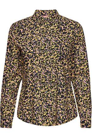 Scotch&Soda Naiset Pitkähihaiset - Printed Shirt In Organic Cotton Mix Pitkähihainen Paita Musta