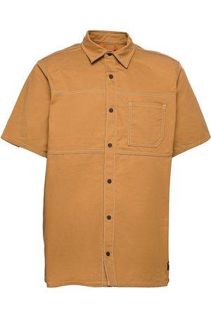 Timberland Miehet Lyhythihaiset - Yc Ss Workwear Shirt Lyhythihainen Paita Ruskea