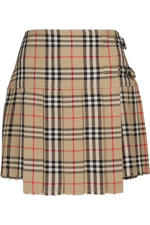 Burberry Vintage Check wool miniskirt