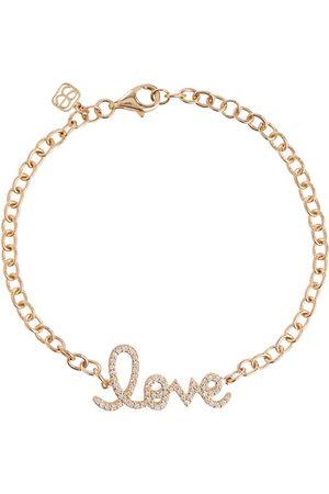 Sydney Evan Love 14kt yellow gold and diamonds chainlink bracelet