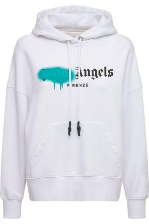 Palm Angels Lvr Exclusive Spray Logo Cotton Hoodie