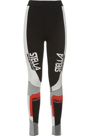 Stella McCartney Naiset Leggingsit - Sporty Logo Knit Leggings