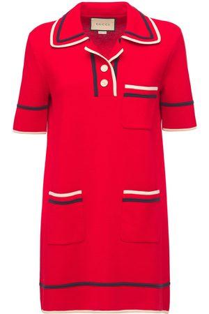 Gucci Naiset Neulemekot - Cotton & Silk Knit Dress