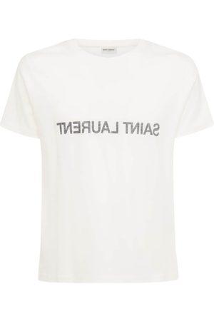 Saint Laurent Miehet T-paidat - Printed Cotton T-shirt