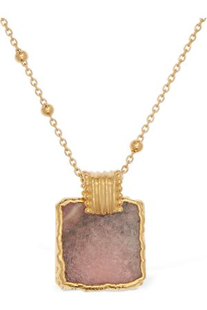 Missoma Naiset Kaulakorut - Rhodochrosite Lena Charm Long Necklace