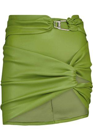 The Attico Leather miniskirt