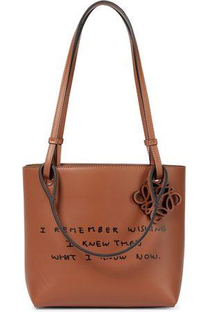 Loewe Words leather tote