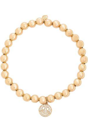 Sydney Evan Naiset Rannekorut - Happy Face 14kt gold bracelet with diamonds
